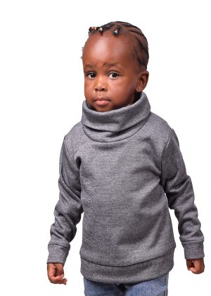 67. Kids, grey, turtleneck sweater-front-ndg-fashion
