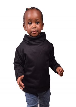 68. Kids, black, turtleneck sweater-front-ndg-fashion