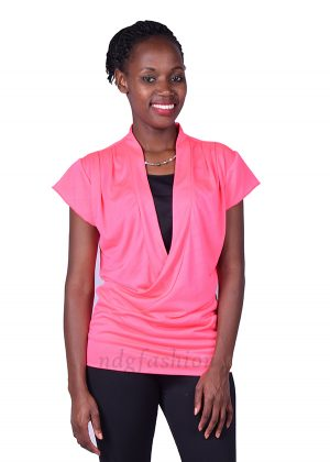 70. Pink-orange, suplice top- front-ndg-fashion
