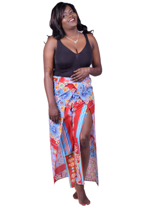 106-Beach-wrap-pants---red-and-blue-print-front-ndg-fashion